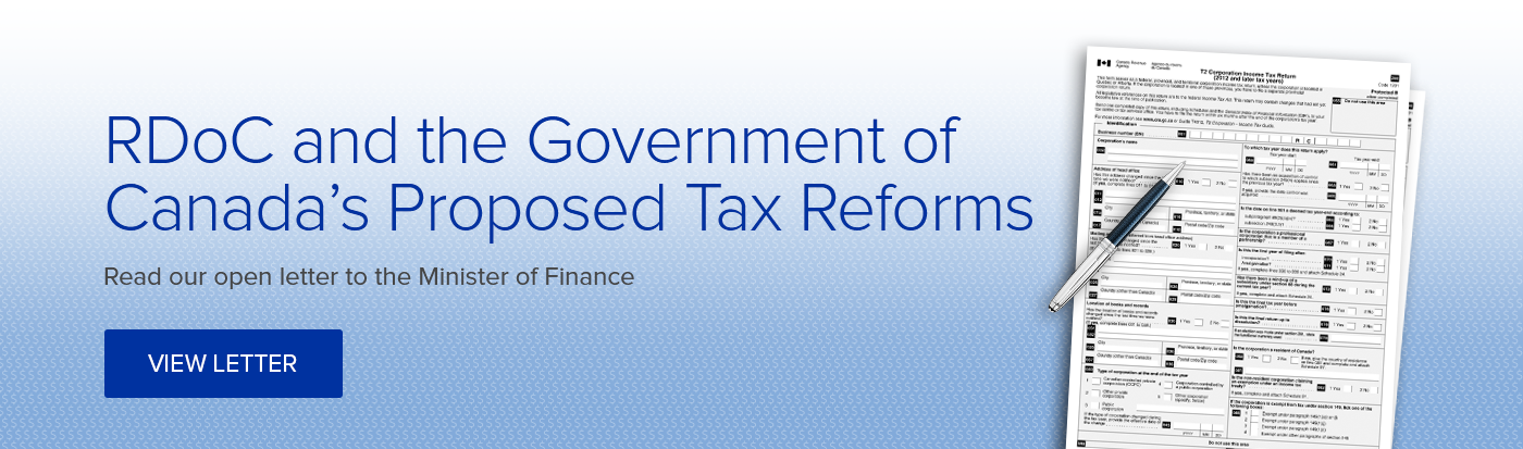RDoC and the Government of Canada's Proposed Tax Reforms