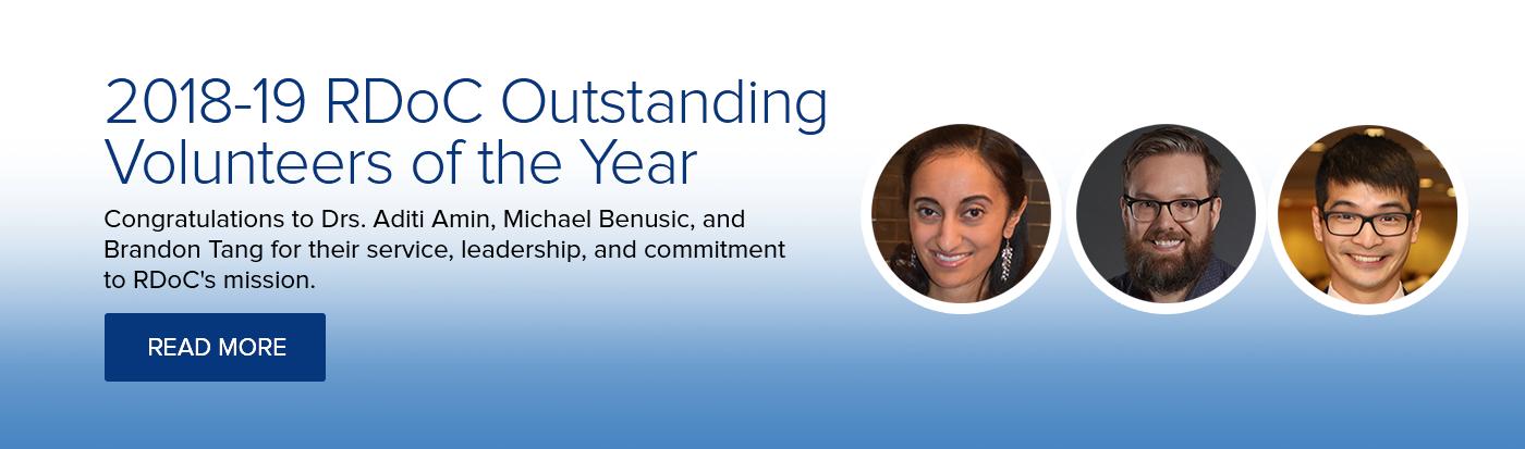 2018-19 RDoC Outstanding Volunteers of the Year