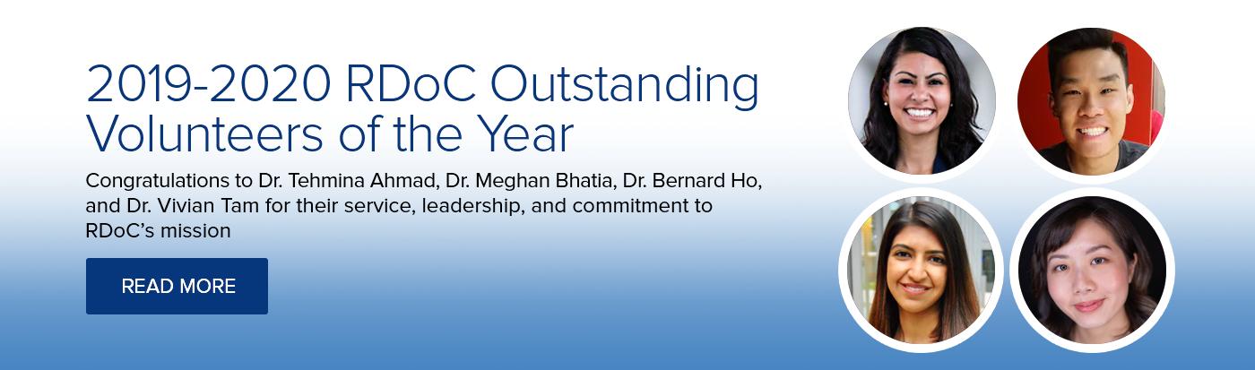 2019-2020 RDoC Outstanding Volunteers of the Year