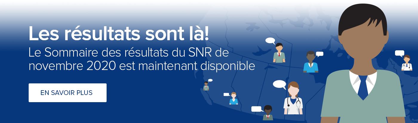 SNR novembre 2020 Sommaire des resultats release